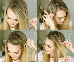 braids, hairstyle, and long hair image