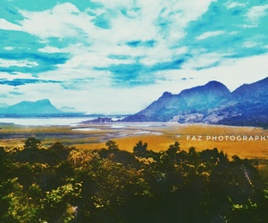 blue, landscape, and photography image