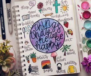 art journal, calligraphy, and coloring image