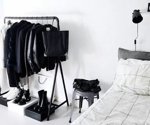 black, room, and white image