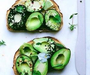 avocado, bread, and healthy image