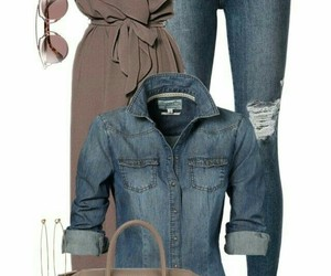 jean, tenue, and taupe image