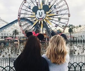 disneyland, friendship, and girls image