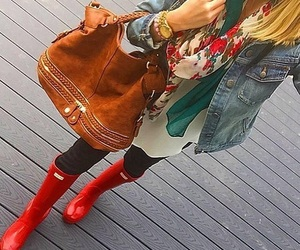 outfit, red, and scarf image