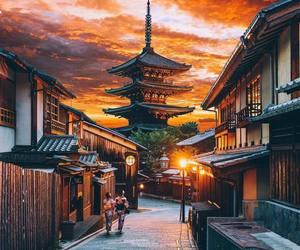 japan, kimono, and kyoto image