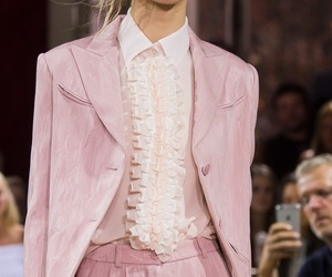 fashion, pink, and runway image