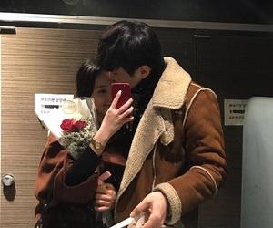 couple, flowers, and korea image