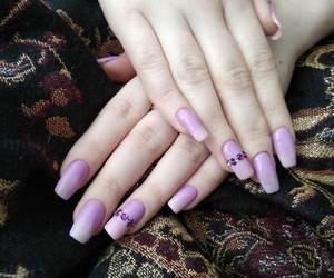 violet nail's, ombre nail's, and life in violet image