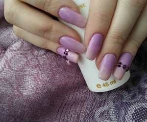 super nail's, ombre nail's, and violet nsil's image