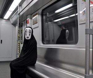 aesthetic, no face, and spirited away image