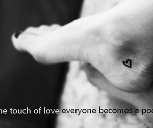 tattoo, love, and black and white image