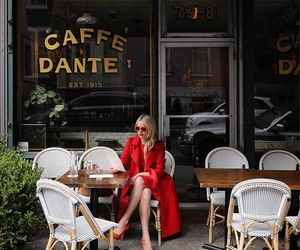 cafe, fashion, and new york image