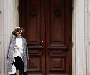 door, fashion, and hat image