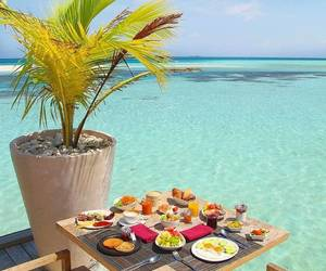 beach, breakfast, and relax image