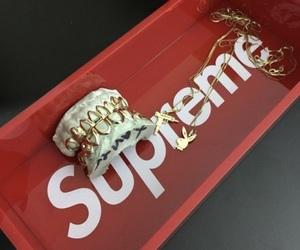 supreme, ghetto, and gold image