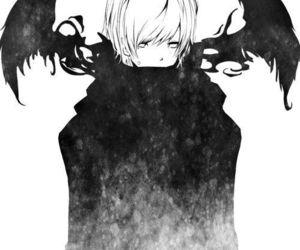 anime, black and white, and anime boy image