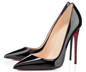 black, heels, and louboutin image