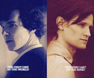 sherlock, doctor who, and wholock image