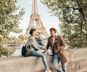casal, couple, and eiffel tower image