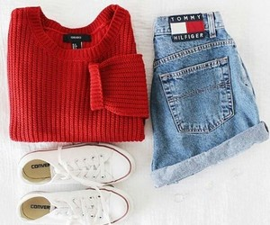 red, outfit, and fashion image
