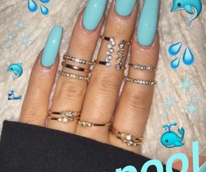 blue, nail art, and style image