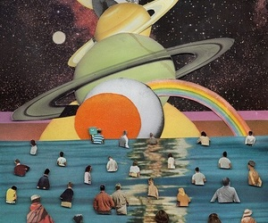 planet, people, and art image