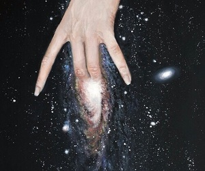 art, fingering, and galaxy image