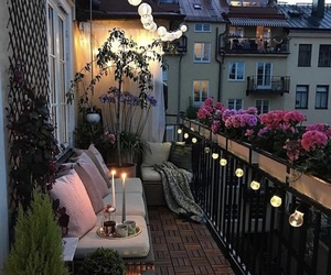 home, flowers, and light image