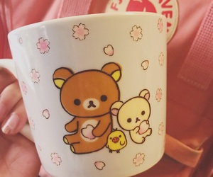 aesthetic, rilakkuma, and cup image