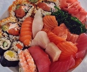 aesthetic, healthy, and sushi image