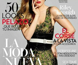 glamour, magazine cover, and riley keough image