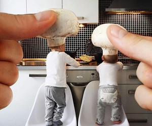 baby, kitchen, and cute image