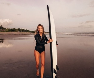 girl, beach, and sports image