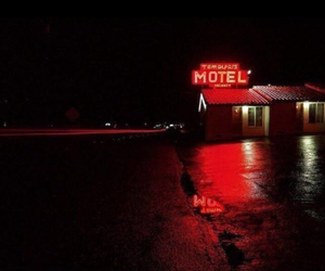 neon, red, and motel image