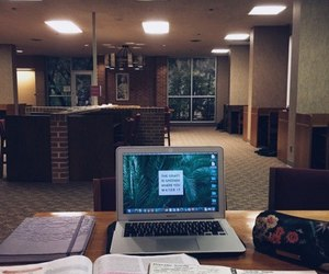 books, desk, and study image