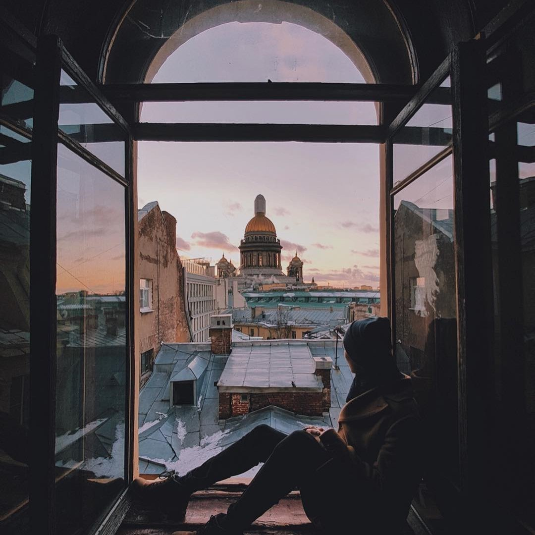 city, photography, and roof image