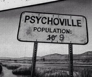 Psycho, psychoville, and grunge image
