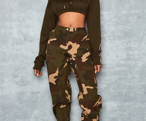 brown, camo, and crop image