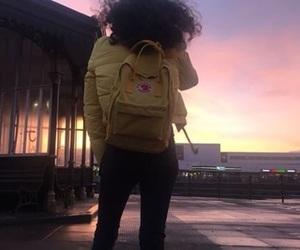 sunset, yellow, and kanken image