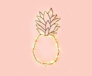 wallpaper, pineapple, and pink image