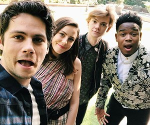 cast, maze runner, and group photo image
