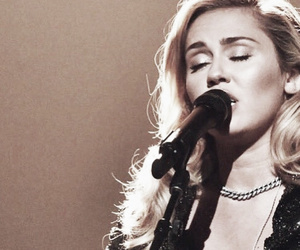 black, microphone, and miley ray cyrus image