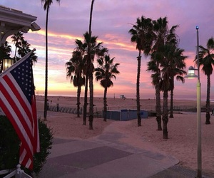 beach, sunrise, and usa image