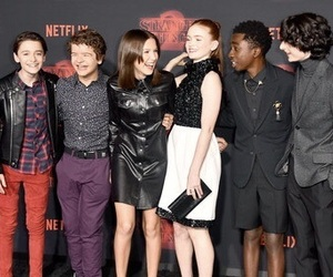 stranger things, sadie sink, and finn wolfhard image
