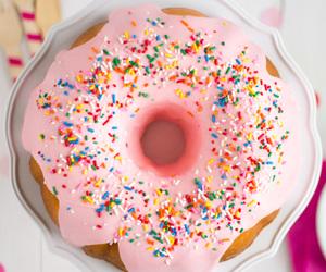 dessert, donut, and donut cake image