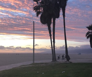 clouds, los angeles, and palm tree image