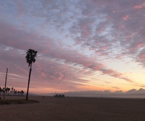 clouds, los angeles, and pink image
