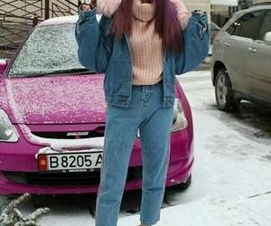 fashion, korean, and snow image