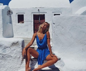 alexis ren, summer, and Greece image