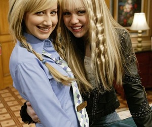 miley cyrus, ashley tisdale, and hannah montana image